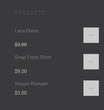 Footer product display