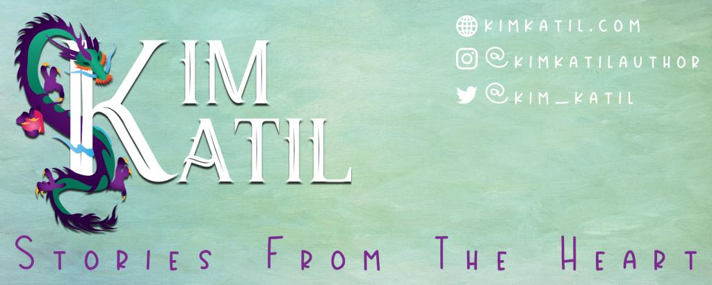 Kim Katil's Website Banner author branding