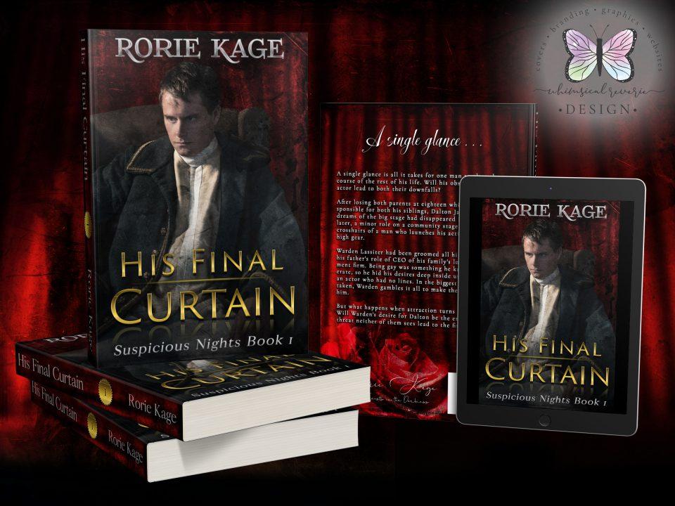 His Final Curtain Custom Cover Design